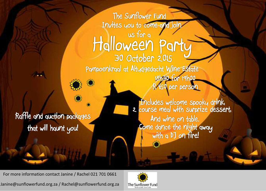 save-the-date-halloween-party - The Sunflower Fund